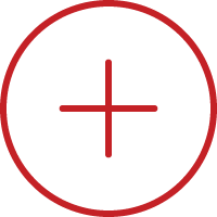 Line art image of an plus sign in a circle